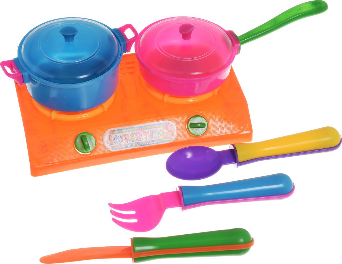Shantou Игрушечный кухонный набор цвет плиты оранжевый
