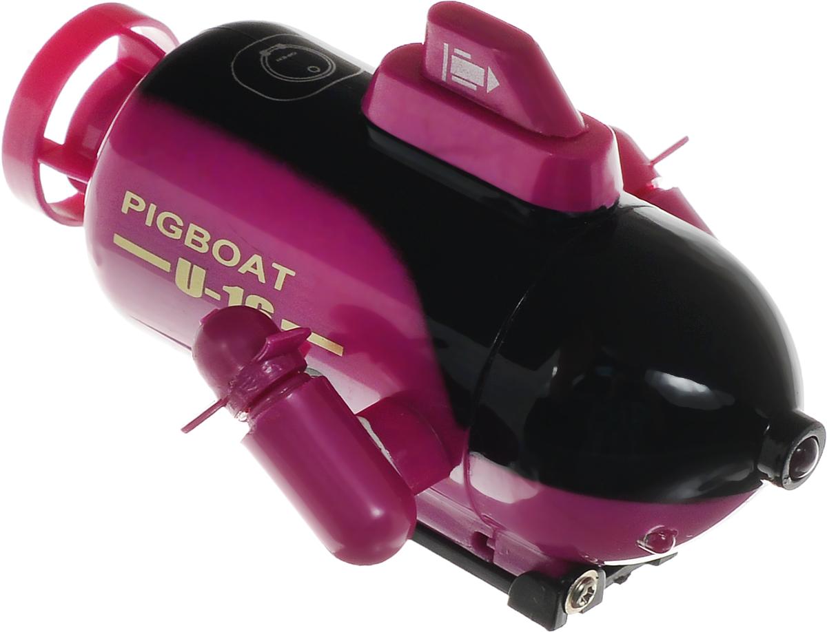 Pilotage Подводная лодка на радиоуправлении Mini Submarine RTR цвет сиреневыйRC13509Подводная лодка на радиоуправлении Pilotage Mini Submarine RTR с двумя электродвигателями обязательно привлечет внимание всех мальчишек! Эта подводная лодка умеет все, что умеют настоящие субмарины: быстро погружаться и всплывать, двигаться вперед и назад, два винта обеспечивают великолепную маневренность. В передней части подводной лодки расположены три светодиода, что делает погружения особенно привлекательными в темноте. Mini Submarine RTR работает без подзарядки примерно 5 минут, заряжается от пульта, время зарядки - до 10 минут. Пульт управления работает на частоте 27 MHz, а дальность его действия составляет до 4 метров. Практичная конструкция, простота в управлении, надежность - все эти качества позволяют получить массу удовольствия, запуская модель в ванной или в аквариуме и даже в небольшом чистом водоеме. Погружайтесь, оставайтесь на поверхности, маневрируйте, а если есть единомышленники и друзья - покупайте несколько лодок и устраивайте подводные гонки! ...