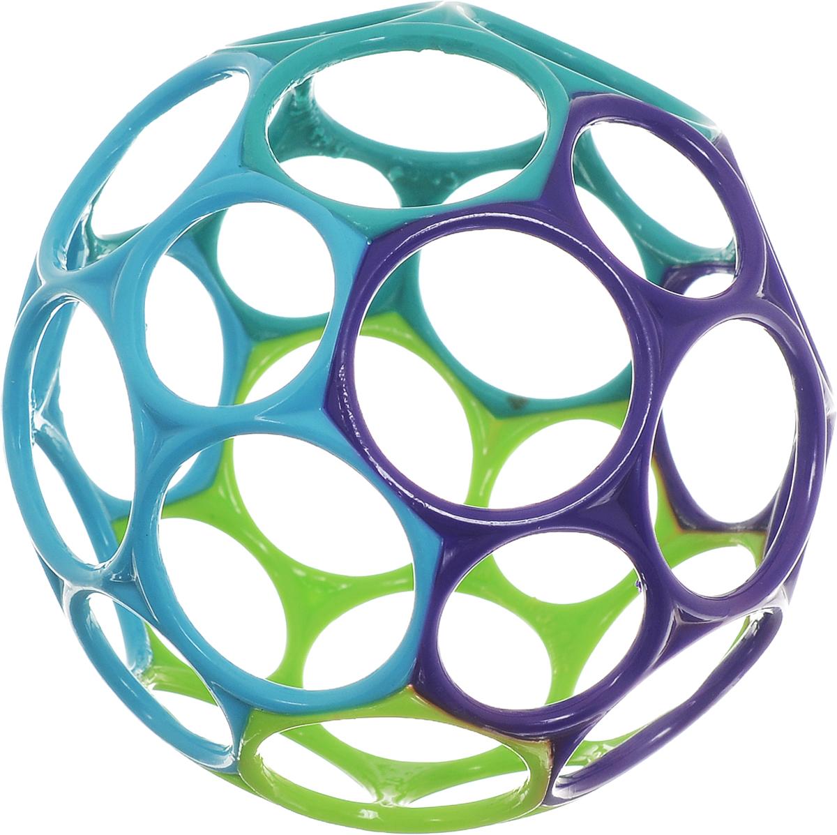 Oball Развивающая игрушка Мячик цвет фиолетовый голубой салатовый