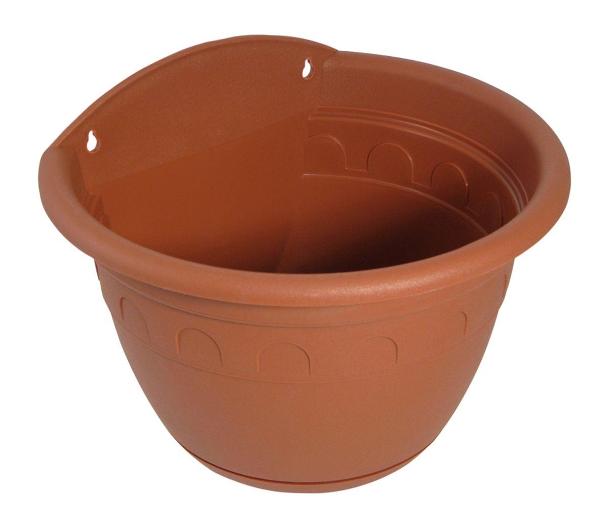 Кашпо настенное Martika Колывань, цвет: терракотовый, 950 млMRC111TНастенное кашпо Martika Колывань изготовлено из высококачественного пластика и имеет два удобных отверстия для крепления. Изделие прекрасно подойдет для выращивания растений дома и на приусадебных участках. Диаметр (по верхнему краю): 16 см. Высота: 12 см.