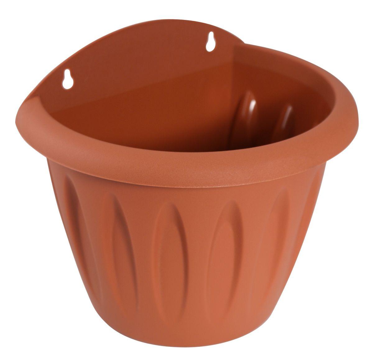 Кашпо настенное Martika Фелиция, цвет: терракотовый, 20 х 14,6 х 17,3 смMRC121TНастенное кашпо Martika Фелиция изготовлено из высококачественного пластика и имеет два удобных отверстия для крепления. Изделие прекрасно подойдет для выращивания растений дома и на приусадебных участках. Размер изделия: 20 х 14,6 х 17,3 см.