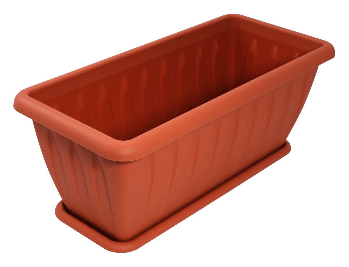 Ящик для растений Martika Фелиция, с поддоном, цвет: терракотовый, 40 х 18,3 х 16,4 смMRC185TЯщик Martika Фелиция изготовлен из высококачественного пластика и оснащен поддоном для стока воды. Изделие прекрасно подойдет для выращивания растений дома и на приусадебных участках. Размер изделия: 40 х 18,3 х 16,4 см.