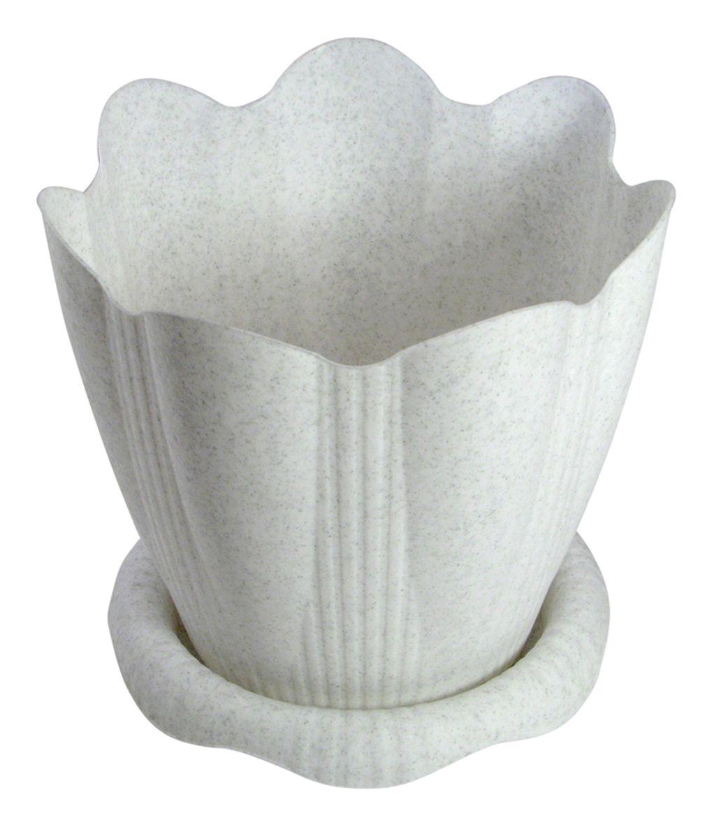Горшок для цветов Martika Эдельвейс, с поддоном, цвет: мрамор, 5,3 лMRC193MПластиковое изделие для дома, соответствующее всем необходимым санитарным нормам и стандартам качества. Изготовлено для цветоводства и растениеводства. Рекомендуется для выращивания растений дома и на приусадебных участках.