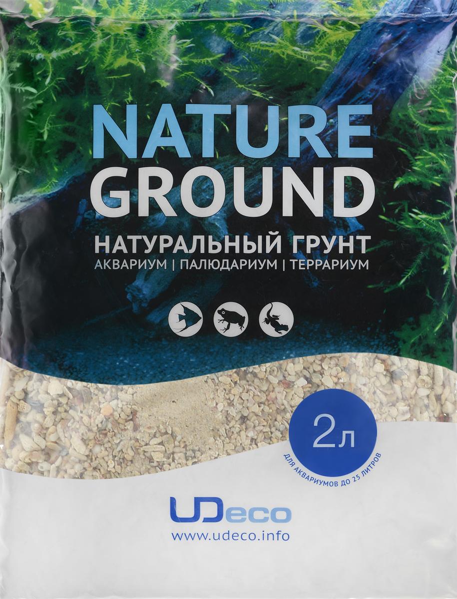 Грунт для аквариума UDeco Коралловая крошка, натуральный, 11-30 мм, 2 лUDC440172Натуральный грунт UDeco Коралловая крошка предназначен специально для оформления аквариумов, палюдариумов и террариумов. Изделие готово к применению. Грунт UDeco порадует начинающих любителей природы и самых придирчивых дизайнеров, стремящихся к созданию нового, оригинального. Такая декорация придутся по вкусу и обитателям аквариумов и террариумов, которые ещё больше приблизятся к природной среде обитания. Необходимое количество грунта рассчитывается по формуле: длина аквариума х ширина аквариума х толщина слоя грунта. Предназначен для аквариумов от 25 литров. Фракция: 11-30 мм. Объем: 2 л.