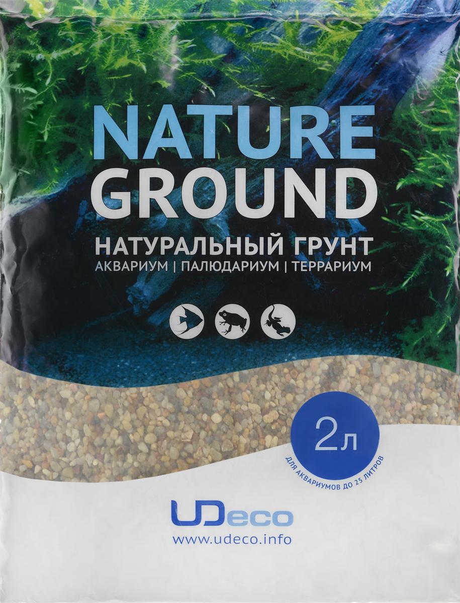 Грунт для аквариума UDeco Янтарный гравий, натуральный, 2-5 мм, 2 лUDC410242Натуральный грунт UDeco Янтарный гравий предназначен специально для оформления аквариумов, палюдариумов и террариумов. Изделие готово к применению. Грунт UDeco порадует начинающих любителей природы и самых придирчивых дизайнеров, стремящихся к созданию нового, оригинального. Такая декорация придутся по вкусу и обитателям аквариумов и террариумов, которые ещё больше приблизятся к природной среде обитания. Необходимое количество грунта рассчитывается по формуле: длина аквариума х ширина аквариума х толщина слоя грунта. Предназначен для аквариумов от 25 литров. Фракция: 2-5 мм. Объем: 2 л.