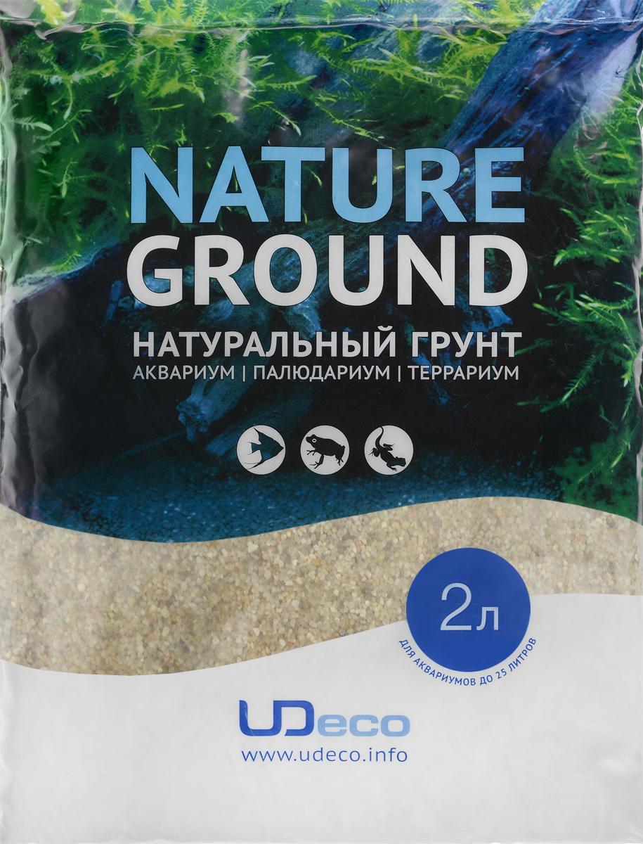 Грунт для аквариума UDeco Светлый песок, натуральный, 0,8-2 мм, 2 лUDC410122Натуральный грунт UDeco Светлый песок предназначен специально для оформления аквариумов, палюдариумов и террариумов. Изделие готово к применению. Грунт UDeco порадует начинающих любителей природы и самых придирчивых дизайнеров, стремящихся к созданию нового, оригинального. Такая декорация придутся по вкусу и обитателям аквариумов и террариумов, которые ещё больше приблизятся к природной среде обитания. Необходимое количество грунта рассчитывается по формуле: длина аквариума х ширина аквариума х толщина слоя грунта. Предназначен для аквариумов от 25 литров. Фракция: 0,8-2 мм. Объем: 2 л.