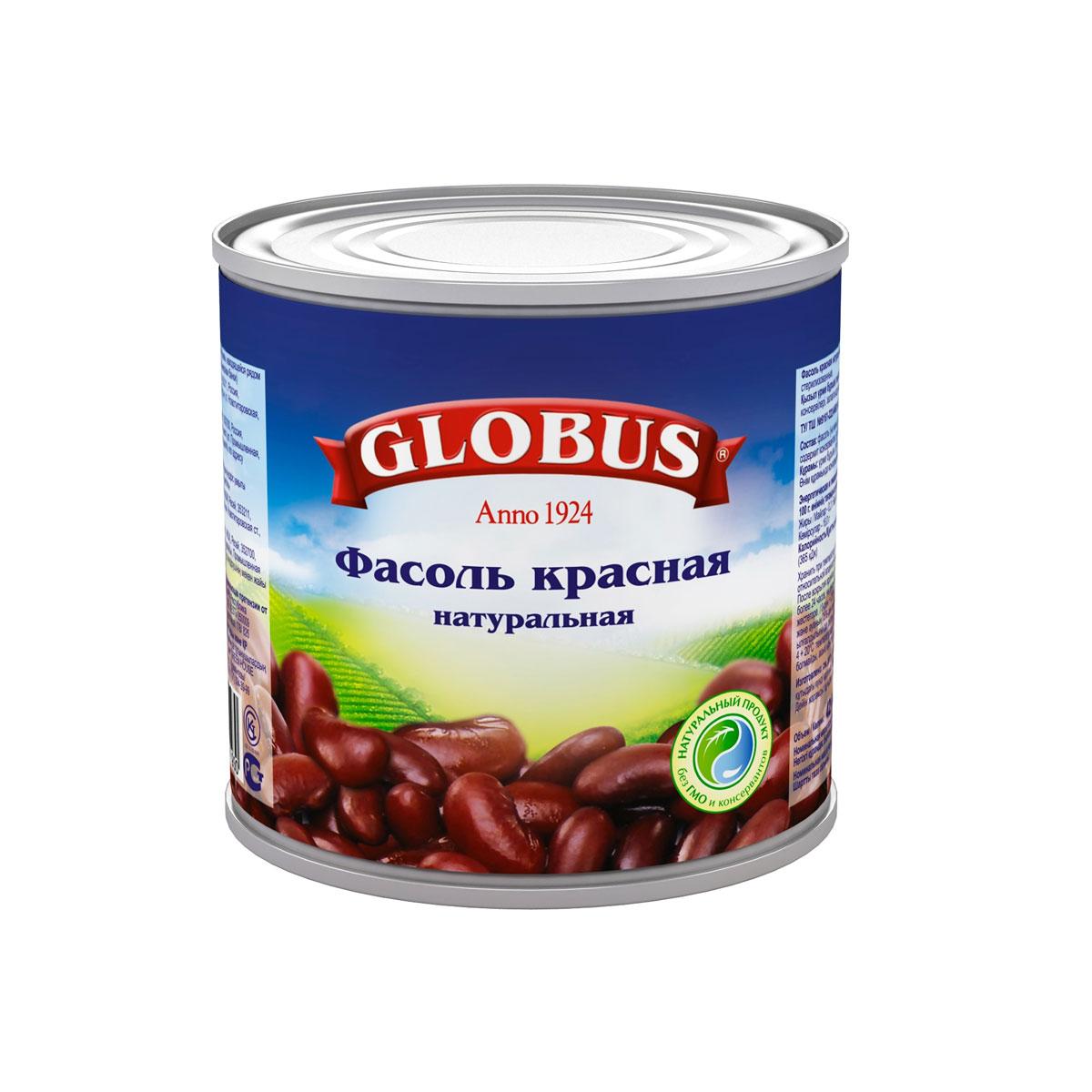 Globus красная фасоль, 400 г4805Красная фасоль приготовлена по классической технологии в оригинальной пряной заливке с добавлением паприки, белого перца и чеснока.