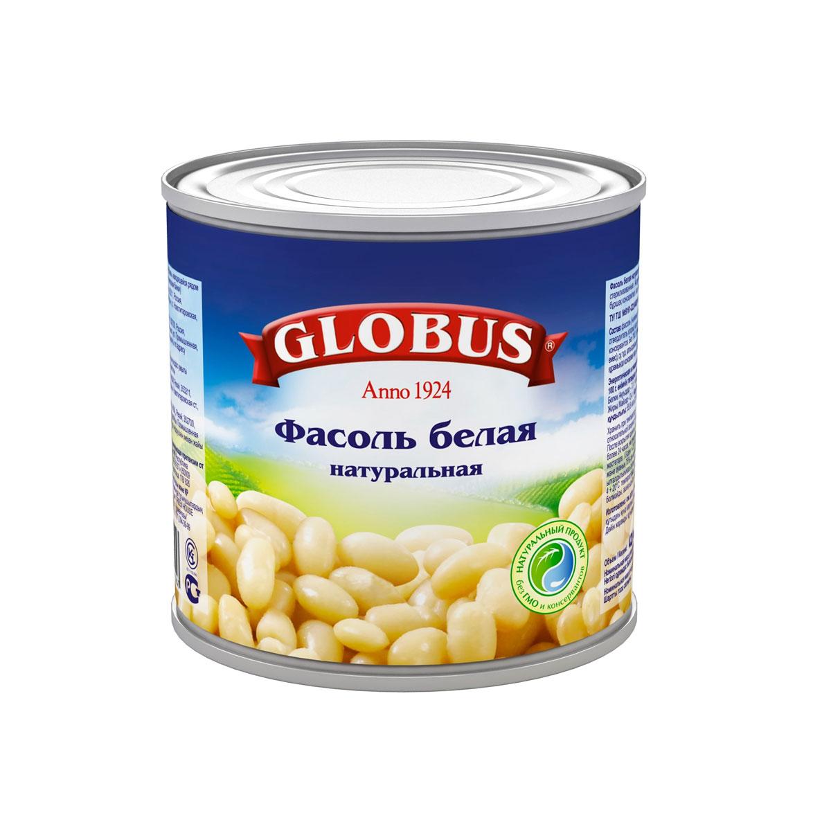 Globus белая фасоль, 400 г4806Белая фасоль в собственном соку - это идеальный компонент для соусов и горячих блюд