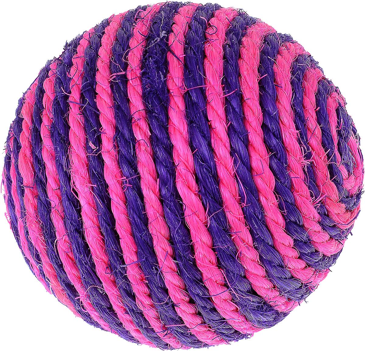 Игрушка для кошек Triol Шарик, цвет: розовый, фиолетовый, диаметр 9,5 смКк-03700Шарик - это забавная когтеточка, разработанная компанией Triol в виде небольшого шарика из сизали. Данные когтеточки пользуются особенным вниманием у кошек, ведь о них можно не только поточить коготки, но и весело поиграть гоняя по полу лапкой или покусывая зубами. Когтеточки - обязательный аксессуар для личной гигиены кошек, который помогает животным избавиться от мешающихся шелушащихся слоев когтя, причиняющих дискомфорт подушечкам лап. Кроме того волокна сизаля - натуральный растительный продукт, который не только являться очень крепким и стойким к повреждениям, но так же имеет отталкивающее бактерии покрытие, благодаря чему абсолютно безвреден для кошек. Диаметр игрушки: 9,5 см.