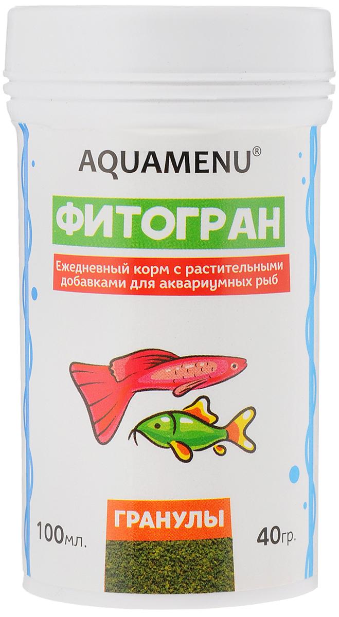 Корм Aquamenu Фитогран для аквариумных рыб, с растительными добавками, 100 мл (40 г)00000001148Aquamenu Фитогран - сбалансированный по всем основным питательным веществам, витаминам и микроэлементам гранулированный корм. Производится из натуральных продуктов животного и растительного происхождения методом экструзии. Aquamenu Фитогран предназначен для ежедневного кормления большинства преимущественно растительноядных видов аквариумных рыб: живородящих, карпозубых, карповых, многих харациновых, лабиринтовых, сомов, африканских цихлид и других рыб длиною 3-10 см. Состав: рыбная, пшеничная, соевая, травяная и водорослевая мука, крапива, микроэлементы, витамины A, B1, B2, B3, B4, B5, B6, B7, B8, B12, C, D3, E, K, Н и специальные добавки. Товар сертифицирован.