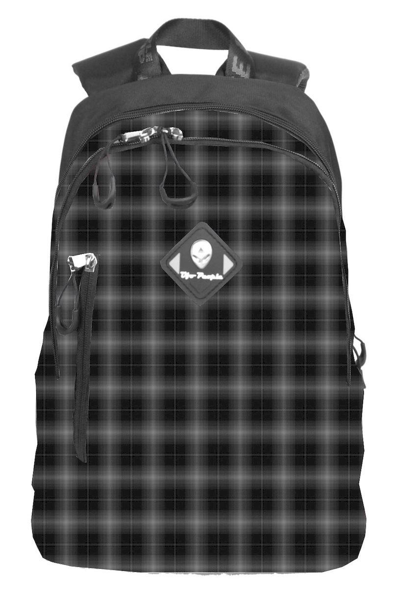 Рюкзак городской UFO people, цвет: черно-серый, 14 л. 6938