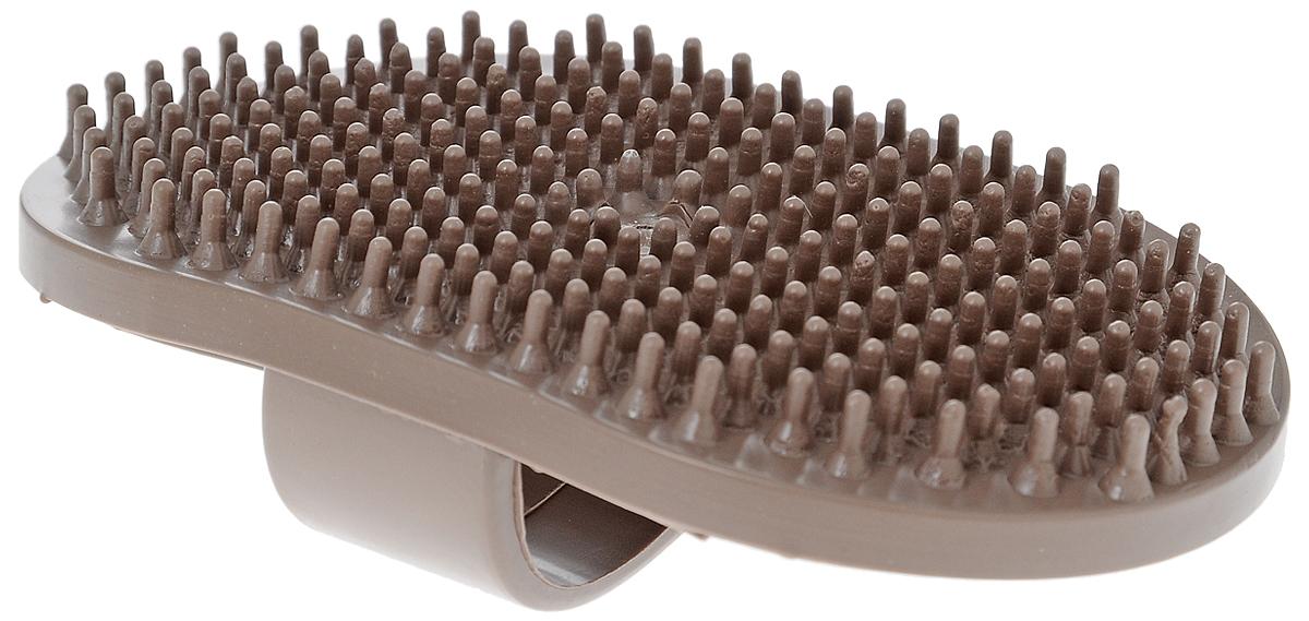 Щетка для животных Гамма, малая, цвет: коричневый, 12,5 х 7,5 х 3,5 смЩг-15400Массажная щетка для животных Гамма выполнена из качественного безопасного материала не травмирующего кожу. Удобно держать на руке. Компактный размер позволяет брать щетку с собой в дорогу. Размер щетки: 12,5 х 7,5 х 3,5 см. Длина зубчиков: 6 мм.
