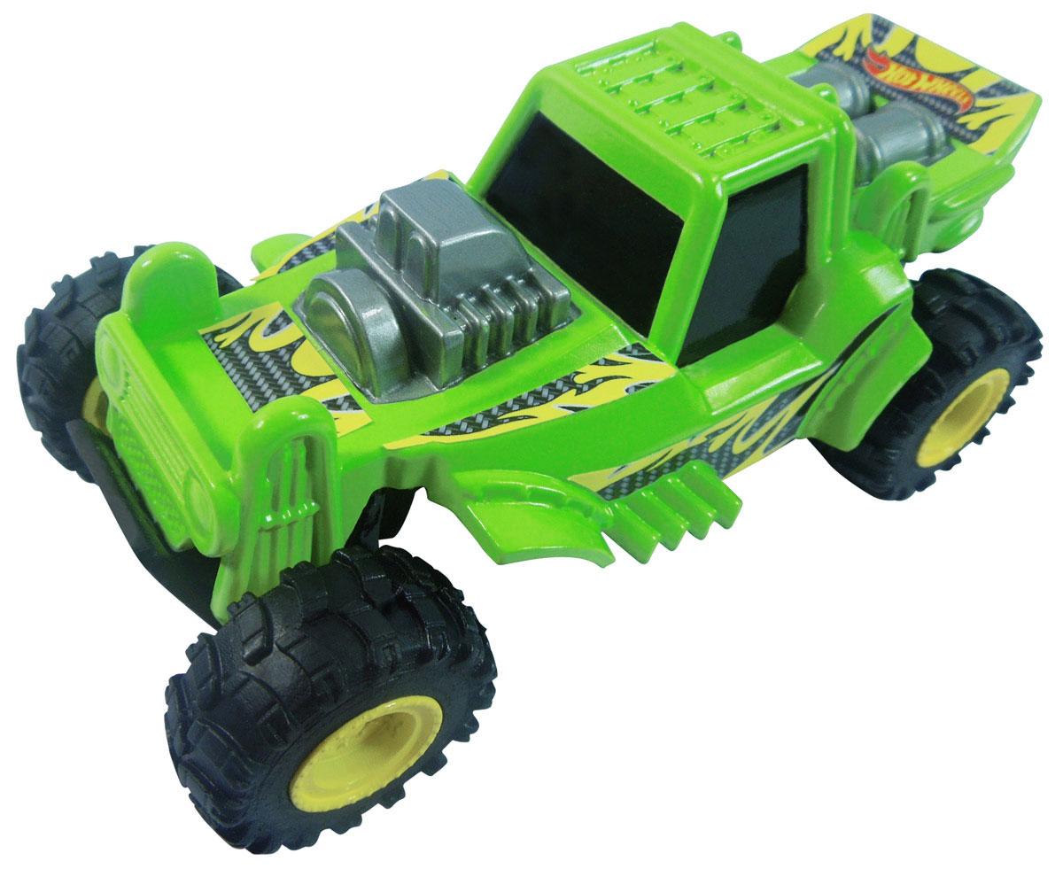 Hot Wheels Машинка Mountain MaulerHW91607Машинка Hot Wheels Mountain Mauler из серии Stunt Jumper - отличный выбор оригинального и приятного подарка как для поклонников машинок легендарного бренда Hot Wheels, так и для всех, кто любит яркие игрушечные автомобили с необычным функционалом. Благодаря встроенной в нижнюю часть корпуса пружине, во время движения машинка подпрыгивает и переворачивается! Яркий цвет корпуса модели непременно понравится детям, а стильный дизайн и качество игрушки оценят даже взрослые! Машинка изготовлена из высококачественного пластика. Игрушка имеет как игровую, так и коллекционную ценность.
