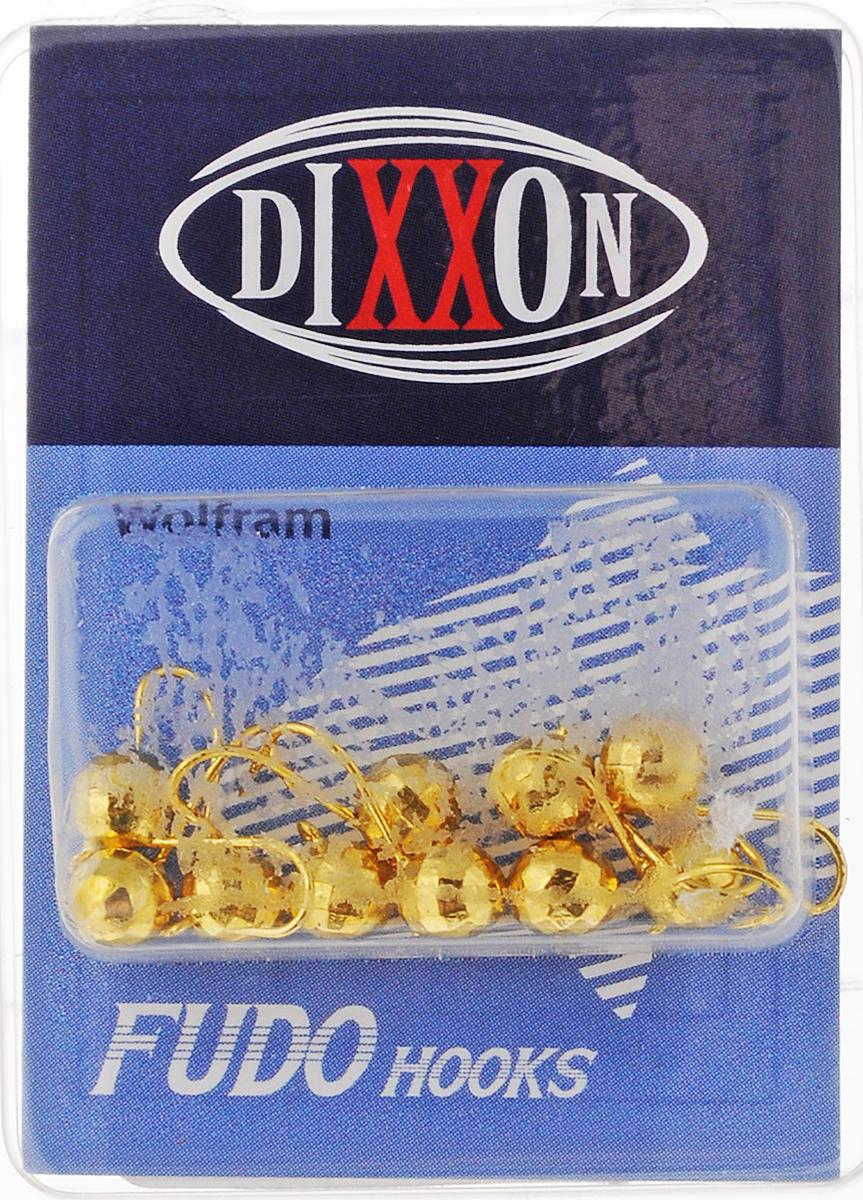 Мормышка вольфрамовая Dixxon-Russia, шар с ушком, цвет: золотистый, диаметр 5 мм, 1,144 г, 10 шт26837Мормышка для подледной ловли Dixxon-Russia изготовлена из вольфрама и оснащена крючком. Главное достоинство вольфрамовой мормышки - большой вес при малом объеме. Эта особенность дает большие преимущества при ловле, так как позволяет быстро погрузить приманку на требуемую глубину и лучше чувствовать игру мормышки. Диаметр мормышки: 5 мм.