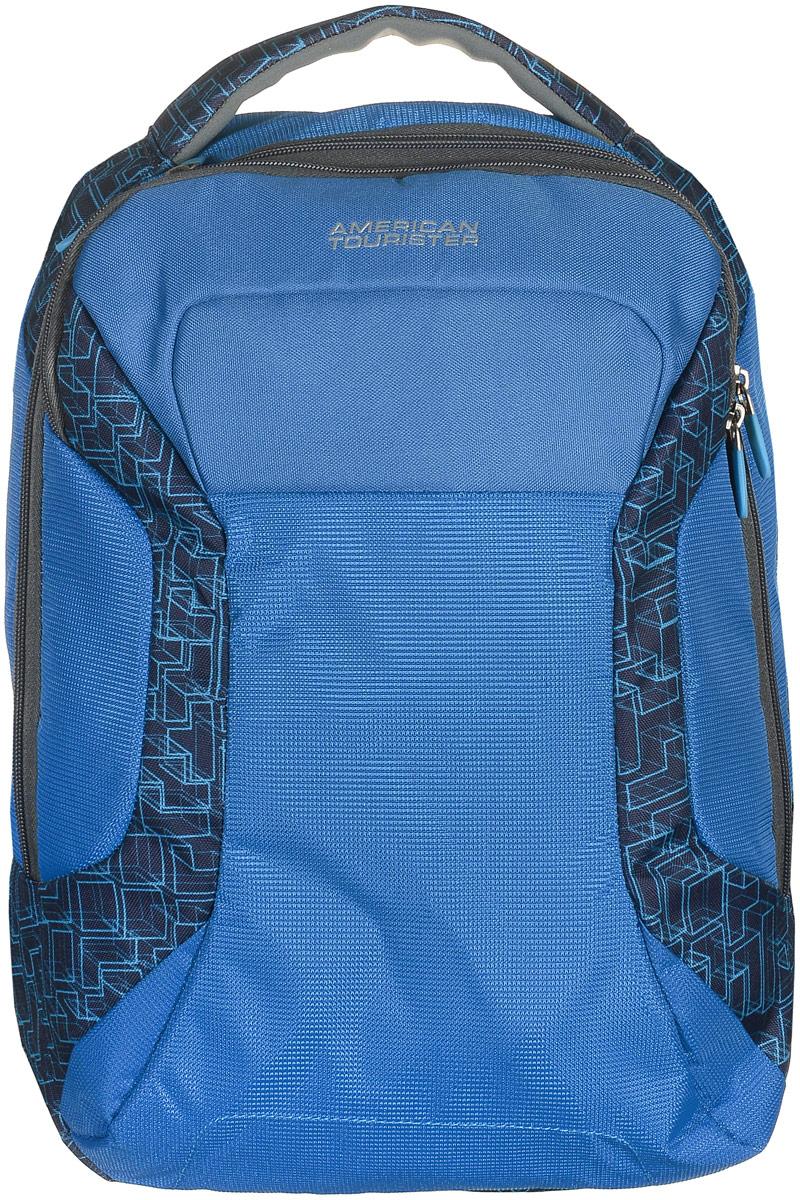 Рюкзак для ноутбука American Tourister, цвет: синий, 18,5 л16G*11008Изящный и легкий рюкзак American Tourister для ноутбука до 15.6 и планшета 10.1. Изготовлен из полиэстера. Особенности: - вшитый карман для ноутбука 15,6 и для планшета 10.1; - во втором отделении три держателя для ручек и два кармашка для мелочей; - широкие лямки анатомической формы. Благодаря высокому качеству, прочным материалам и четко продуманной функциональности – рюкзаки American Tourister пользуются огромной популярностью среди туристов и тех, кто часто ездит в командировки.