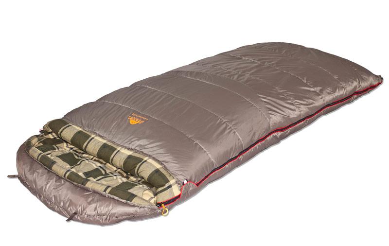 Спальный мешок-одеяло Alexika Canada plus, цвет: серый, левосторонняя молния. 9266.010729266.01072