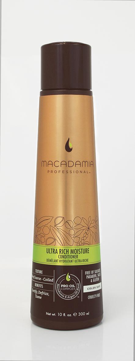 Macadamia Professional Кондиционер увлажняющий для жестких волос, 300 мл200300Сочетание эксклюзивного комплекса Pro Oil Complex, масел авокадо и монгонго в увлажняющем кондиционере Macadamia Professional обеспечивает интенсивное восстановление и увлажнение волос, устраняет эффект пушистости и подчеркивает естественную форму локонов и текстуру волос. Сочетание аминокислот шелка, витаминов A, C и E укрепляет волосы и придает эластичность. Обеспечивает защиту от действия УФ-лучей и неблагоприятных факторов окружающей среды.