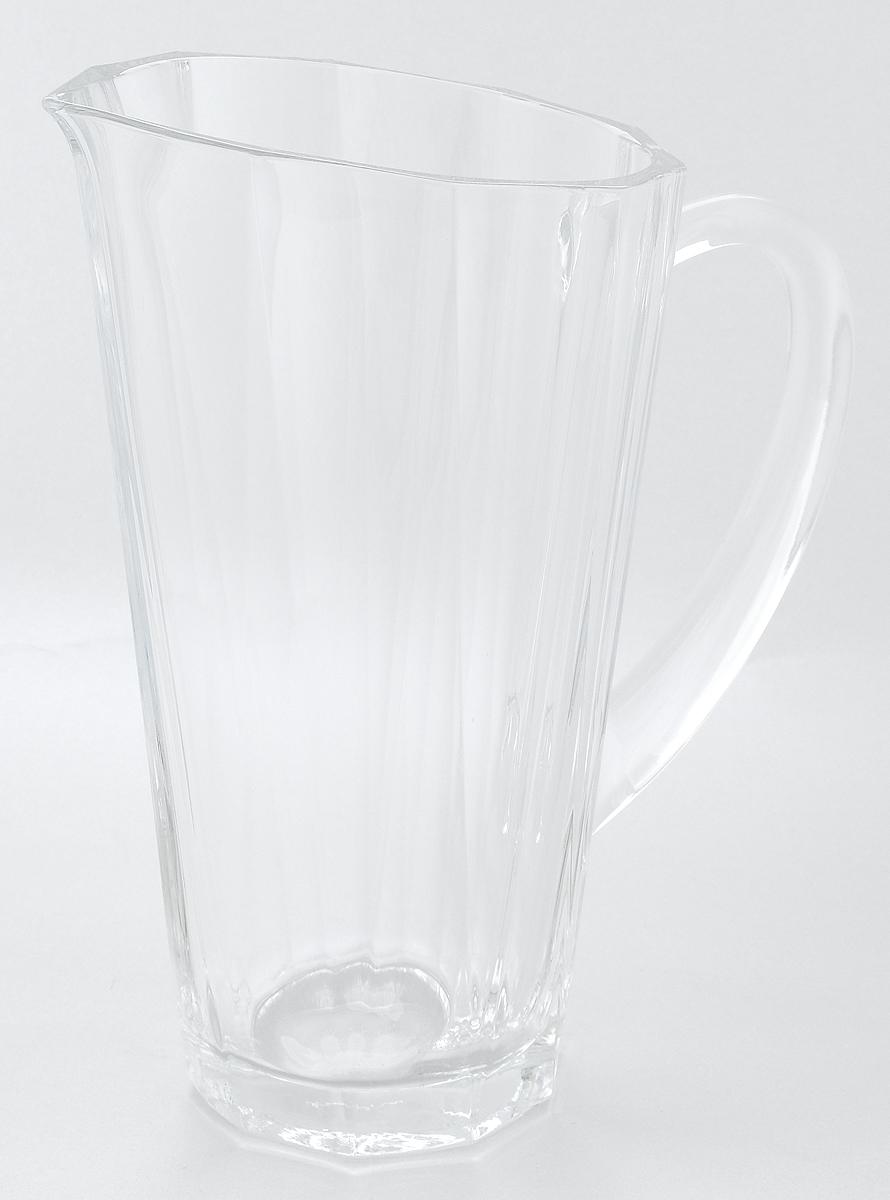 Кувшин Pasabahce Hemingway, с ручкой, 1 л68010NКувшин Pasabahce Hemingway, выполненный из прочного натрий-кальций-силикатного стекла, элегантно украсит ваш стол. Кувшин прекрасно подойдет для подачи воды, сока, компота и других напитков. Изделие оснащено ручкой и специальным носиком для удобного выливания жидкости. Совершенные формы и изящный дизайн, несомненно, придутся по душе любителям классического стиля. Кувшин Pasabahce Hemingway дополнит интерьер вашей кухни и станет замечательным подарком к любому празднику. Можно мыть в посудомоечной машине. Диаметр кувшина по верхнему краю (без учета носика): 11,5 см. Высота кувшина: 23 см.