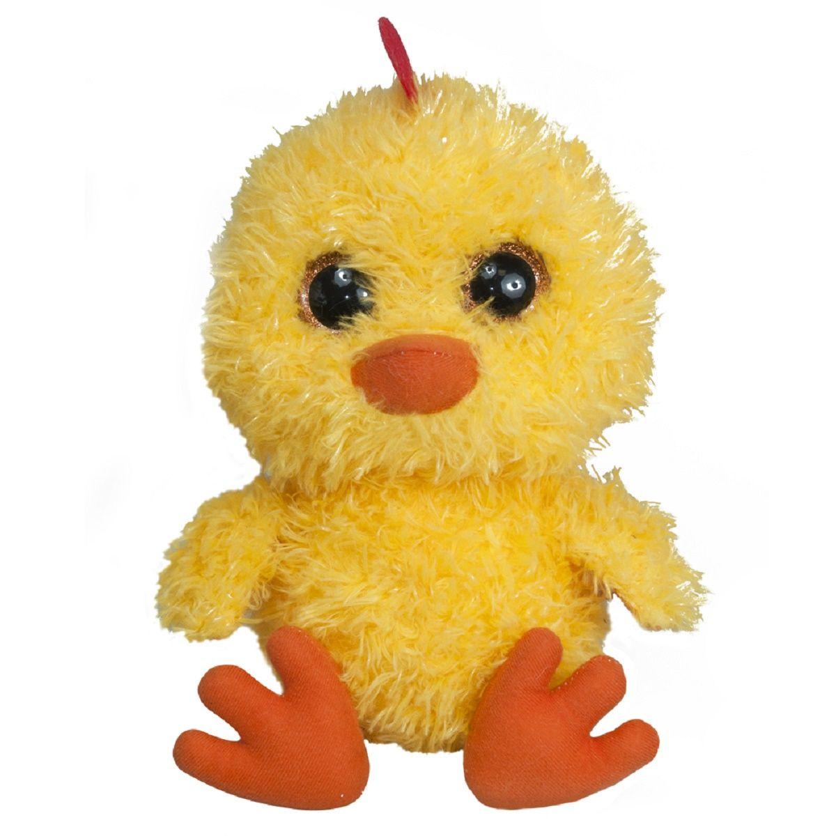 Fancy Мягкая игрушка Цыпленок-глазастикCNP0Детская подарочная игрушка. Яркий милый образ.