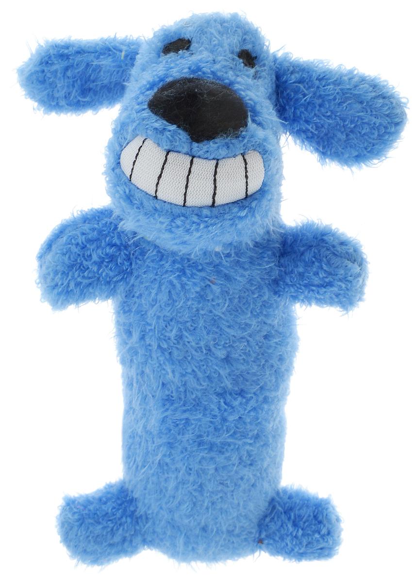 Игрушка для животных Multipet Собака, с пищалкой, цвет: синий12-47711_синийИгрушка Multipet Собака изготовлена из прочного и долговечного полиэстера, устойчивого к разгрызанию. Необычная и забавная игрушка прекрасно подойдет для собак и кошек, любящих плюшевые игрушки с пищалками, так как в игрушку вшиты 2 пищалки с разным звучанием.