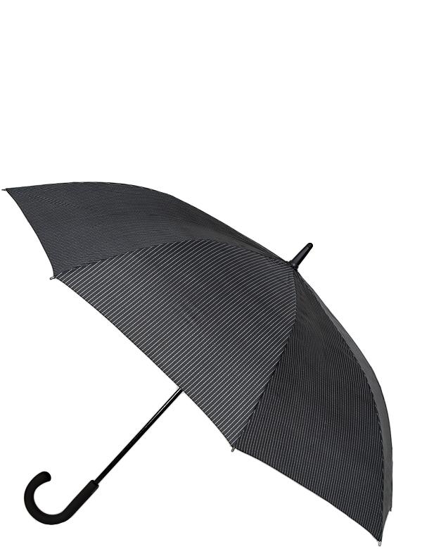 Зонт женский Eleganzza, цвет: черный. T-05-F687T-05-F687Мужская трость, полуавтомат. Материал купола 100% полиэстер, эпонж. Материал каркаса: карбон + фиберголасс. Материал ручки: пластик. Длина изделия - 92 см, диаметр купола - 117 см.