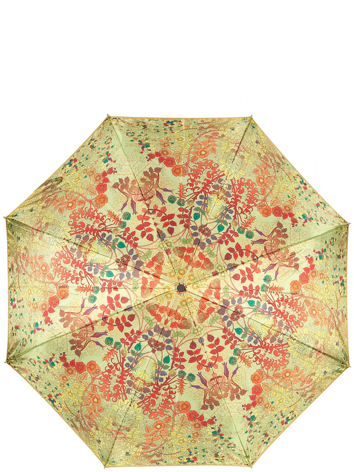 Зонт женский Eleganzza, цвет: салатовый, оранжевый. A3-05-0311LSA3-05-0311LSЖенский зонт-автомат торговой марки Eleganzza с каркасом Smart, который позволяет без особых усилий складывать зонт, не позволяя стержню вылетать обратно. Купол: 100% полиэстер, сатин. Материал каркаса: сталь + фибергласс. Материал ручки: пластик. Длина изделия - 30 см. Диаметр купола - 105 см. Система Smart, не позволяет стержню при сложении вылететь обратно, это облегчает сложение зонта! При сложении есть характерный звук-треск, как трещетка. Примечание: зонт не откроется с кнопки если его не закрыть до щелчка.