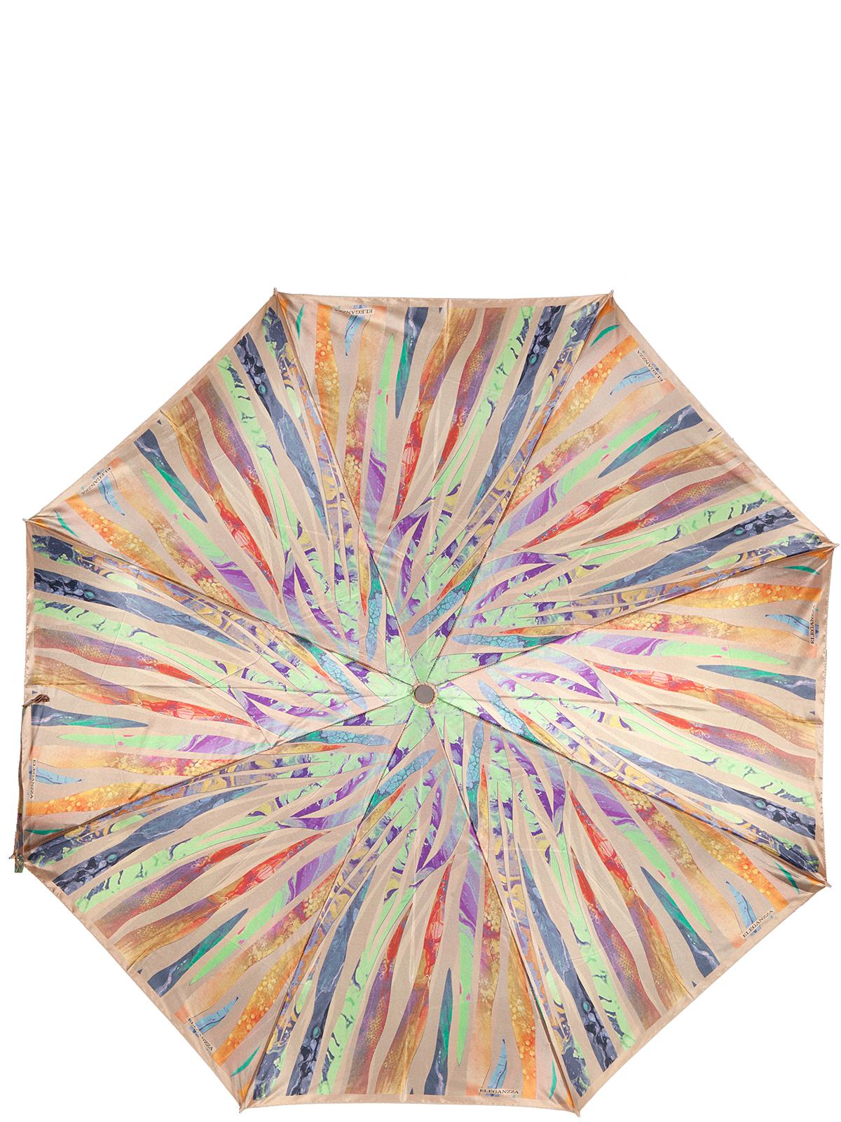 Зонт женский Eleganzza, цвет: розовый. A3-05-0317LSA3-05-0317LSЖенский зонт-автомат торговой марки Eleganzza с каркасом Smart, который позволяет без особых усилий складывать зонт, не позволяя стержню вылетать обратно. Купол: 100% полиэстер, сатин. Материал каркаса: сталь + фибергласс. Материал ручки: пластик. Длина изделия - 30 см. Диаметр купола - 105 см. Система Smart, не позволяет стержню при сложении вылететь обратно, это облегчает сложение зонта! При сложении есть характерный звук-треск, как трещетка. Примечание: зонт не откроется с кнопки если его не закрыть до щелчка.