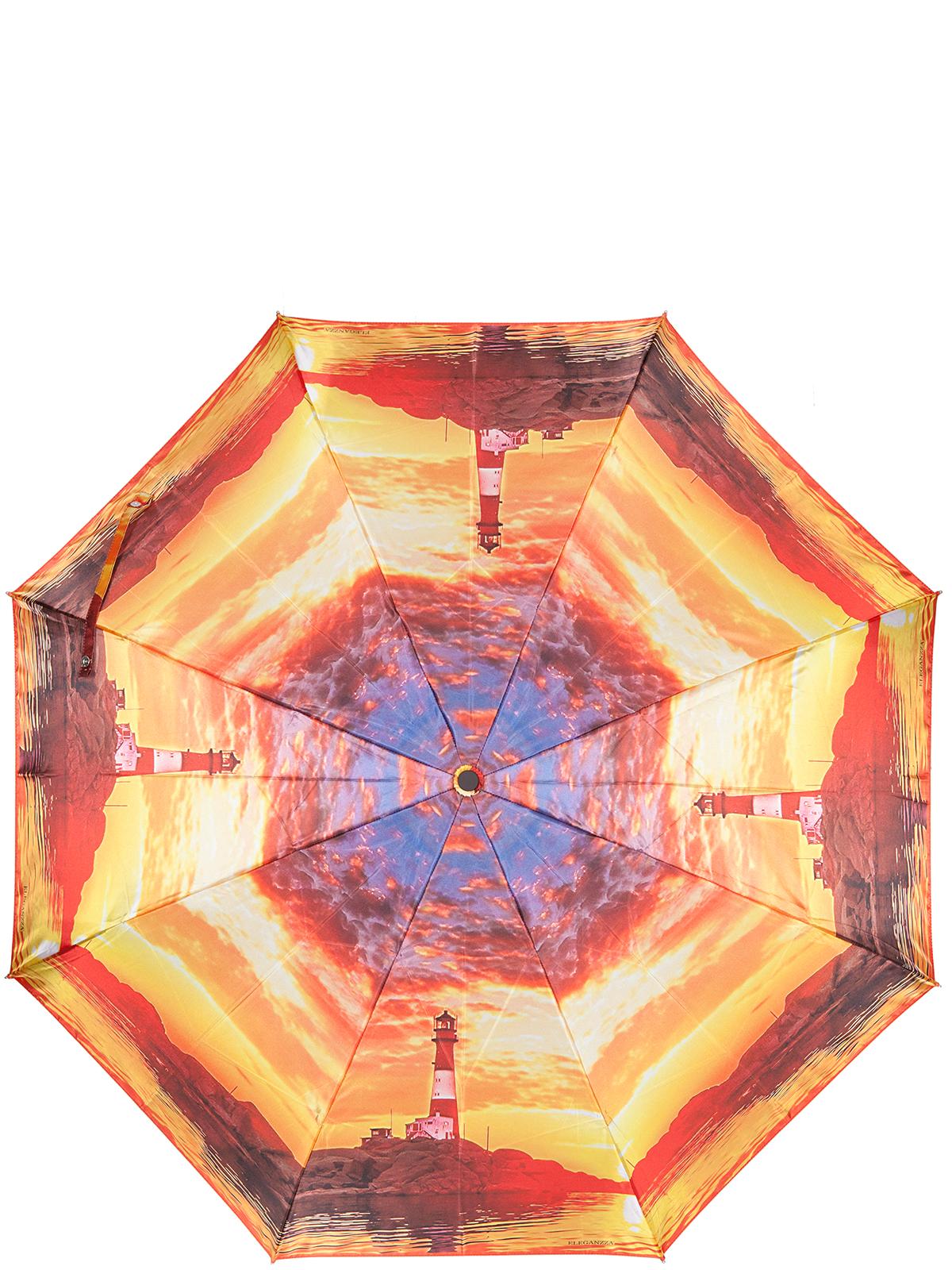 Зонт женский Eleganzza, цвет: желтый. A3-05-0318LSA3-05-0318LSЖенский зонт-автомат торговой марки Eleganzza с каркасом Smart, который позволяет без особых усилий складывать зонт, не позволяя стержню вылетать обратно. Купол: 100% полиэстер, сатин. Материал каркаса: сталь + фибергласс. Материал ручки: пластик. Длина изделия - 30 см. Диаметр купола - 105 см. Система Smart, не позволяет стержню при сложении вылететь обратно, это облегчает сложение зонта! При сложении есть характерный звук-треск, как трещетка. Примечание: зонт не откроется с кнопки если его не закрыть до щелчка.