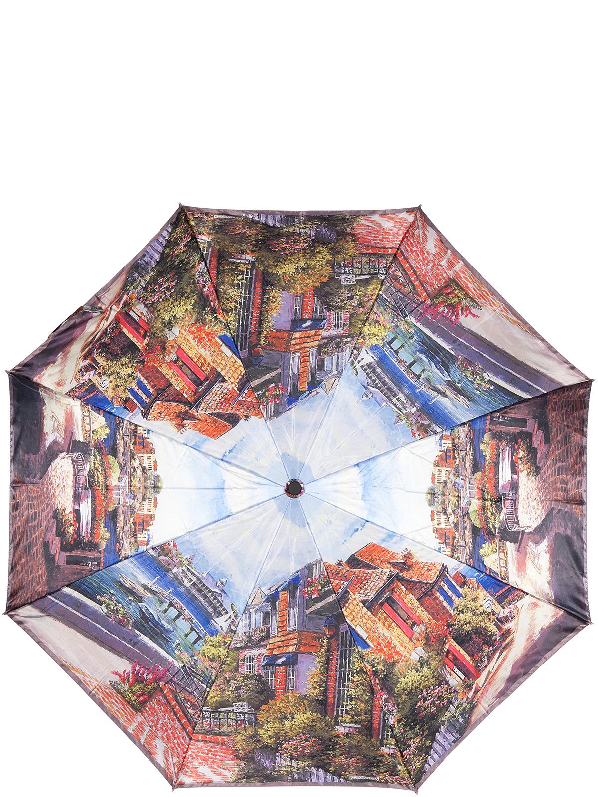 Зонт женский Eleganzza, цвет: коричневый. A3-05-0322LSA3-05-0322LSЖенский зонт-автомат торговой марки Eleganzza с каркасом Smart, который позволяет без особых усилий складывать зонт, не позволяя стержню вылетать обратно. Купол: 100% полиэстер, сатин. Материал каркаса: сталь + фибергласс. Материал ручки: пластик. Длина изделия - 30 см. Диаметр купола - 105 см. Система Smart, не позволяет стержню при сложении вылететь обратно, это облегчает сложение зонта! При сложении есть характерный звук-треск, как трещетка. Примечание: зонт не откроется с кнопки если его не закрыть до щелчка.