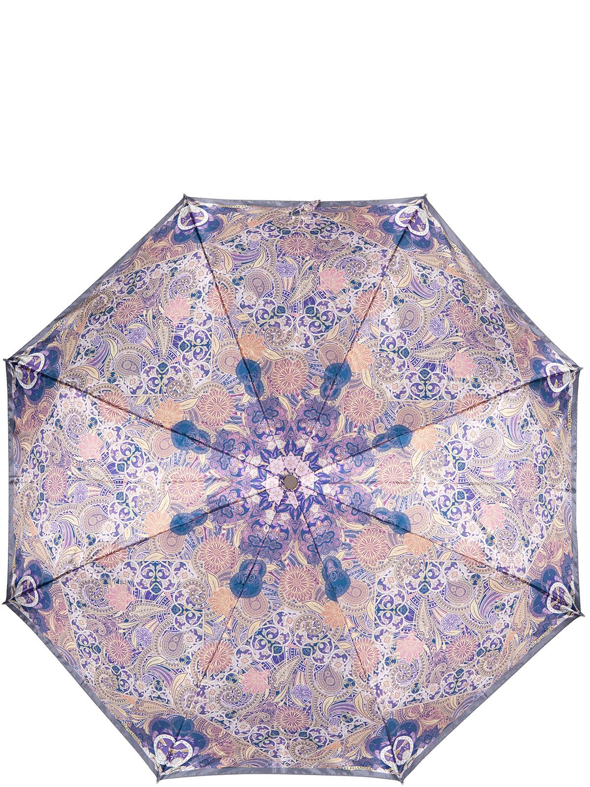 Зонт женский Eleganzza, цвет: фиолетовый. A3-05-0323LSA3-05-0323LSЖенский зонт-автомат торговой марки Eleganzza с каркасом Smart, который позволяет без особых усилий складывать зонт, не позволяя стержню вылетать обратно. Купол: 100% полиэстер, сатин. Материал каркаса: сталь + фибергласс. Материал ручки: пластик. Длина изделия - 30 см. Диаметр купола - 105 см. Система Smart, не позволяет стержню при сложении вылететь обратно, это облегчает сложение зонта! При сложении есть характерный звук-треск, как трещетка. Примечание: зонт не откроется с кнопки если его не закрыть до щелчка.