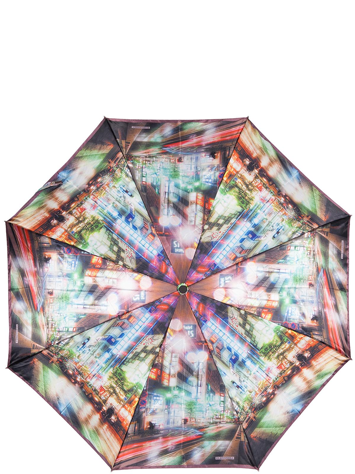 Зонт женский Eleganzza, цвет: коричневый. A3-05-0324LSA3-05-0324LSЖенский зонт-автомат торговой марки Eleganzza с каркасом Smart, который позволяет без особых усилий складывать зонт, не позволяя стержню вылетать обратно. Купол: 100% полиэстер, сатин. Материал каркаса: сталь + фибергласс. Материал ручки: пластик. Длина изделия - 30 см. Диаметр купола - 105 см. Система Smart, не позволяет стержню при сложении вылететь обратно, это облегчает сложение зонта! При сложении есть характерный звук-треск, как трещетка. Примечание: зонт не откроется с кнопки если его не закрыть до щелчка.