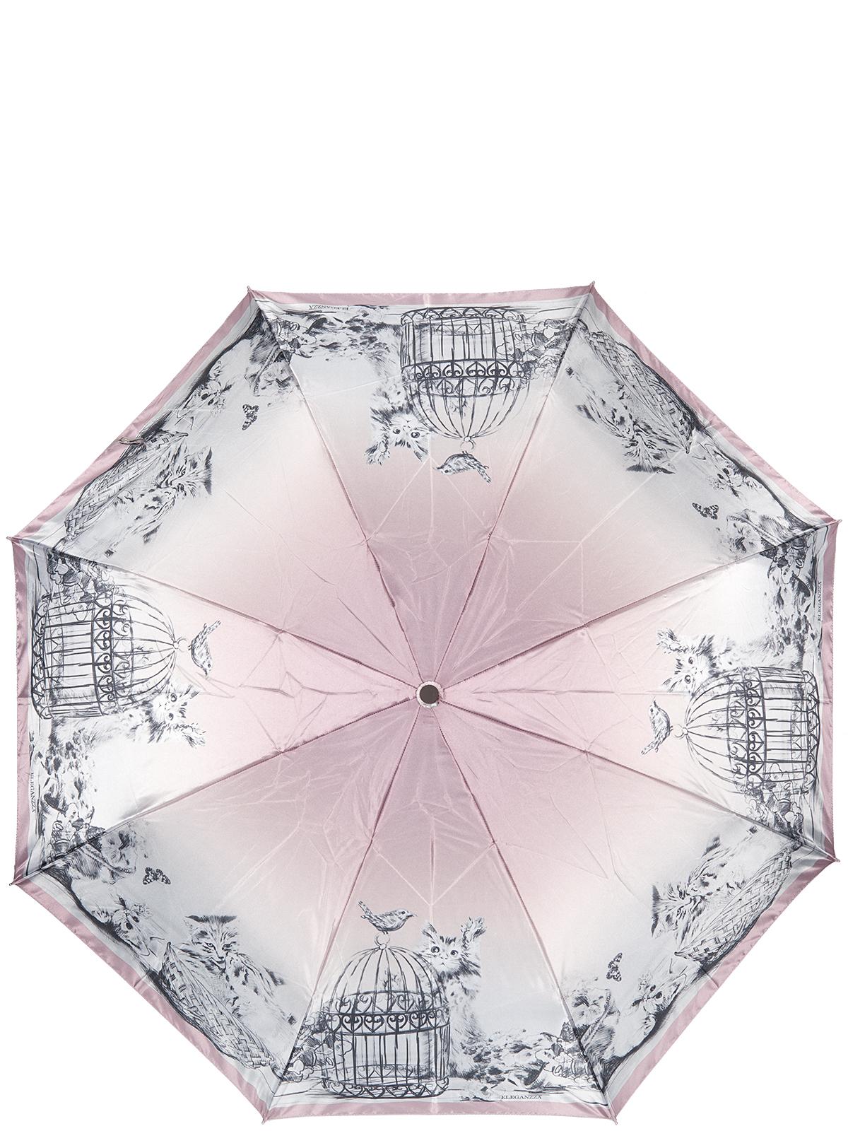 Зонт женский Eleganzza, цвет: розовый. A3-05-0326LSA3-05-0326LSЖенский зонт-автомат торговой марки Eleganzza с каркасом Smart, который позволяет без особых усилий складывать зонт, не позволяя стержню вылетать обратно. Купол: 100% полиэстер, сатин. Материал каркаса: сталь + фибергласс. Материал ручки: пластик. Длина изделия - 30 см. Диаметр купола - 105 см. Система Smart, не позволяет стержню при сложении вылететь обратно, это облегчает сложение зонта! При сложении есть характерный звук-треск, как трещетка. Примечание: зонт не откроется с кнопки если его не закрыть до щелчка.