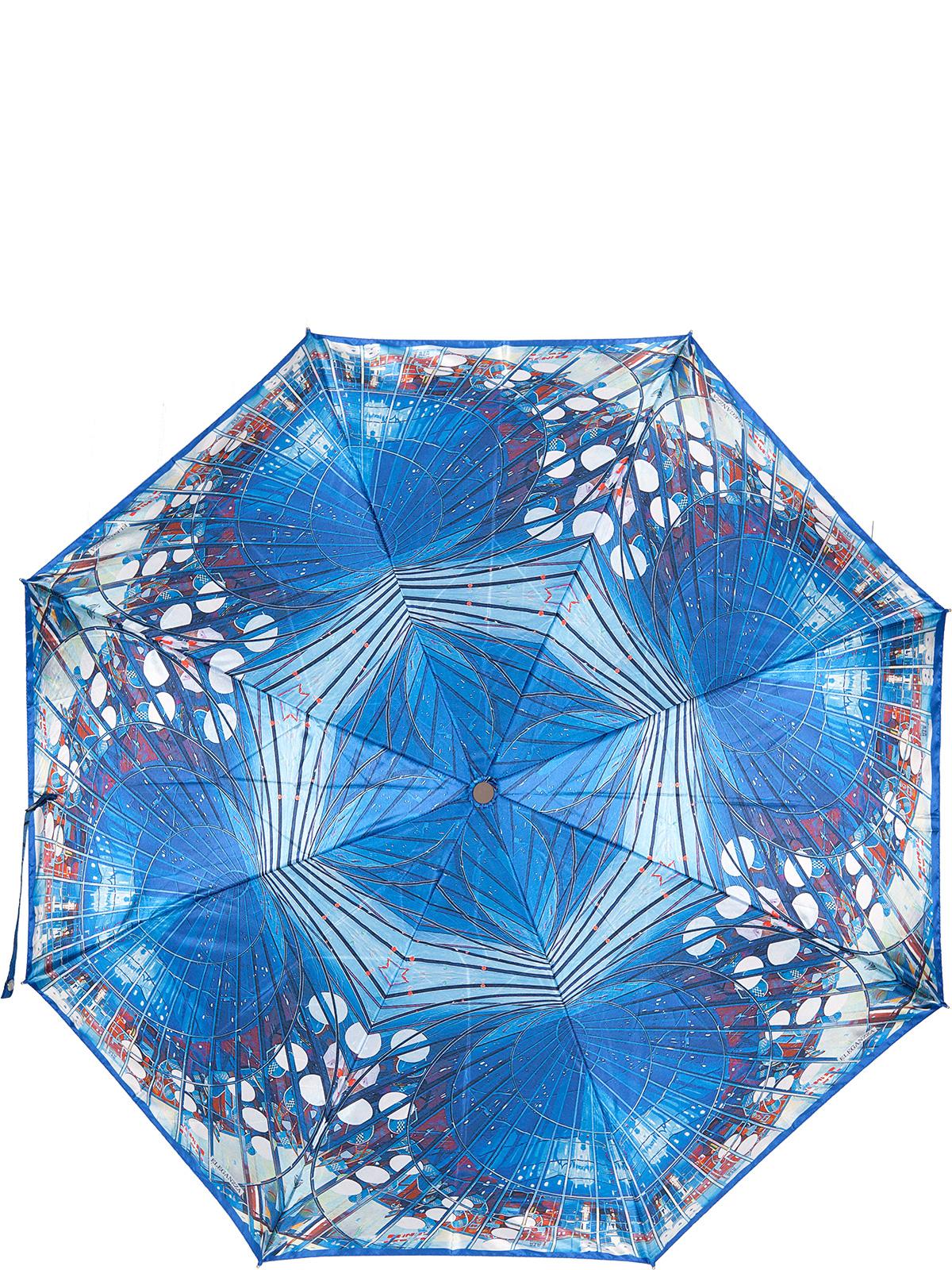 Зонт женский Eleganzza, цвет: синий. A3-05-0327LSA3-05-0327LSЖенский зонт-автомат торговой марки Eleganzza с каркасом Smart, который позволяет без особых усилий складывать зонт, не позволяя стержню вылетать обратно. Купол: 100% полиэстер, сатин. Материал каркаса: сталь + фибергласс. Материал ручки: пластик. Длина изделия - 30 см. Диаметр купола - 105 см. Система Smart, не позволяет стержню при сложении вылететь обратно, это облегчает сложение зонта! При сложении есть характерный звук-треск, как трещетка. Примечание: зонт не откроется с кнопки если его не закрыть до щелчка.