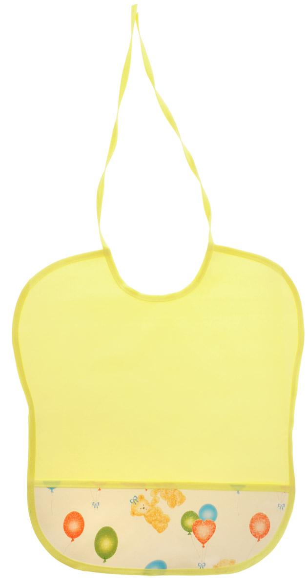 Колорит Нагрудник цвет желтый белый 33 х 33 см0083_желтый/белыйНагрудник Колорит изготовлен из клеенки подкладной с ПВХ покрытием. Нагрудник оснащен удобным карманом. Предназначен для многоразового использования, не промокает, предохраняет от загрязнений во время кормления. Нагрудник на завязках - выбор практичных мамочек, пользоваться таким слюнявчиком можно более длительное время, пока ваш малыш растет, благодаря завязкам вы сможете легко контролировать длину изделия и регулировать размер горловины.
