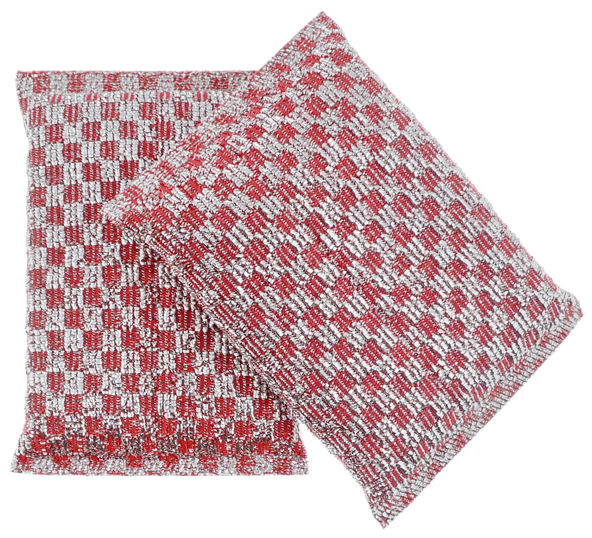 Губка для посуды Хозяюшка Мила Блеск, цвет: красный, 2 шт1018_красныйНабор Хозяюшка Мила Блеск состоит из 2 губок. Губки предназначены для интенсивной чистки и удаления сильных загрязнений с посуды (противни, решетки-гриль, кастрюли). Губки сохраняют чистоту и свежесть даже после многократного применения, а их эргономичная форма удобна для руки. Подходит для деликатных поверхностей. Размер губки: 12 х 8 х 2 см.