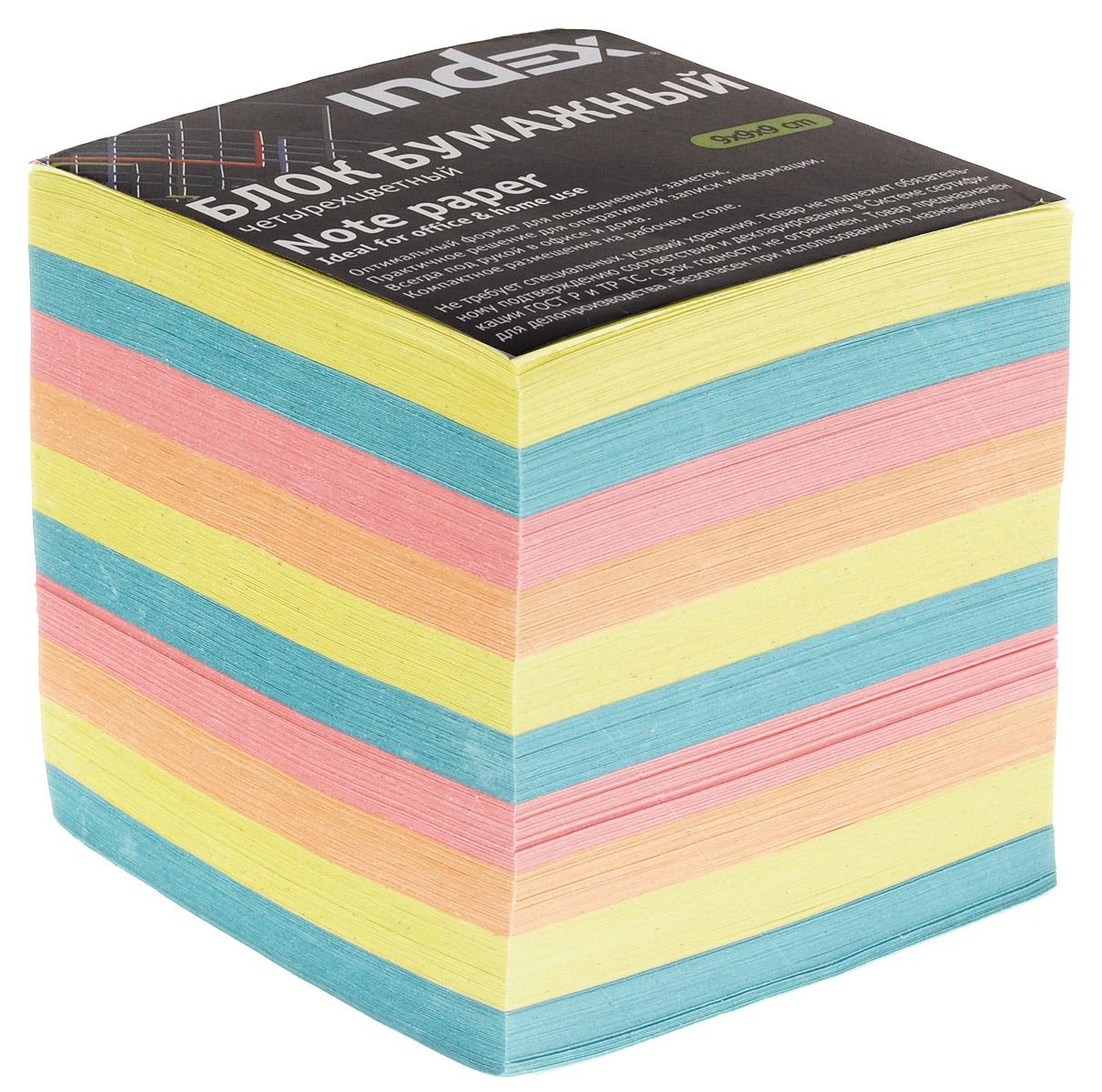 Index Блок для записей многоцветный цвет желтый бирюзовый розовыйI9910/N/R_ желтый, бирюзовый, розовый, оранжевыйБумага для записей Index - практичное решение для оперативной записи информации в офисе или дома. Блок состоит из листов разноцветной бумаги, что помогает лучше ориентироваться во множестве повседневных заметок. Яркий блок-кубик на вашем рабочем столе поднимет настроение вам и вашим коллегам!