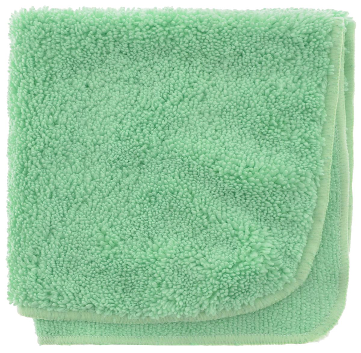 Салфетка для уборки Meule Premium, универсальная, цвет: салатовый, 30 х 30 см4607009241203Салфетка Meule Premium выполнена из высококачественной микрофибры (80% полиэстер, 20% полиамид). У салфетки двусторонняя структура с хорошо выраженными ворсинками с одной стороны и удлиненным ворсом. Изделие может использоваться как для сухой, так и для влажной уборки. Деликатно очищает любые виды поверхности, не оставляет следов и разводов. Идеально впитывает влагу, удаляет загрязнения и пыль, а также подходит для протирки полированной мебели. Сохраняет свои свойства после стирки.