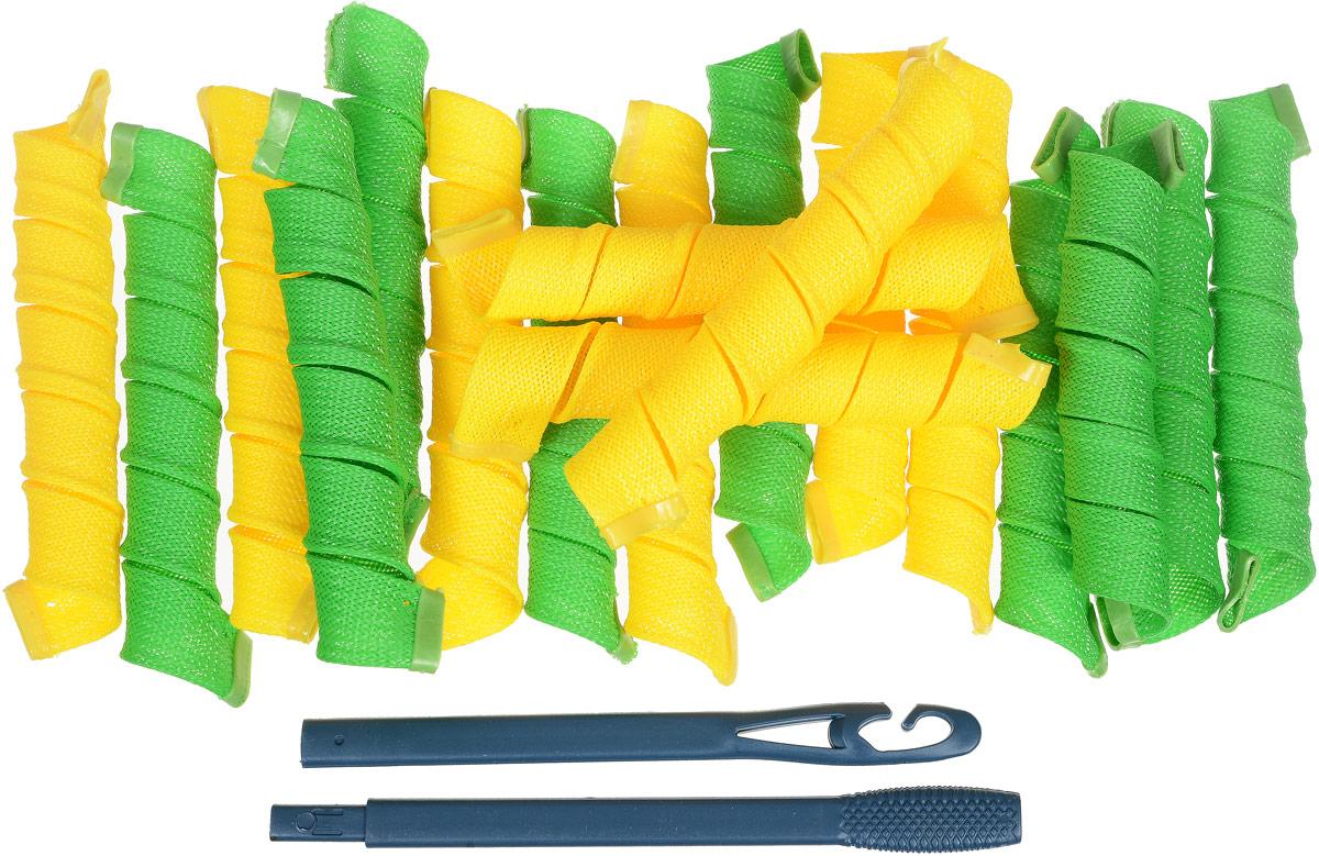 Дива Волшебные бигуди Широкие, 44 см 18 штДШ44Бигуди Magic Leverag: - создают большой объем, - обеспечивают бережное отношение к волосам, - легки в использовании. - эффектные кудряшки за полчаса Бигуди этой формы помогают придать объем, быстро и без усилий обзавестись крупными и средними кудрями. Эластичная сеточка из полимерных волокон позволяет получить плавные округлые завитки без заломов. Силиконовые наконечники не дают спиралькам сползать, и при этом легко снимаются с сухих волос. Чтобы получить идеальную прическу, достаточно закрепить бигуди на волосах влажностью 60-70% и просушить их феном или оставить до утра. На мягких Magic Leverag можно проспать всю ночь, не ощущая неудобства. Все 18 широких и длинных бигуди Дива закручиваются в одну сторону, а значит вы легко проконтролируете направление локонов и равномерность укладки. Характеристики: Длина: 44 см Ширина локона: 2,2 см Диаметр завитка: 2,5 см Количество: 18 шт. Крючок: двойной Упаковка: косметичка