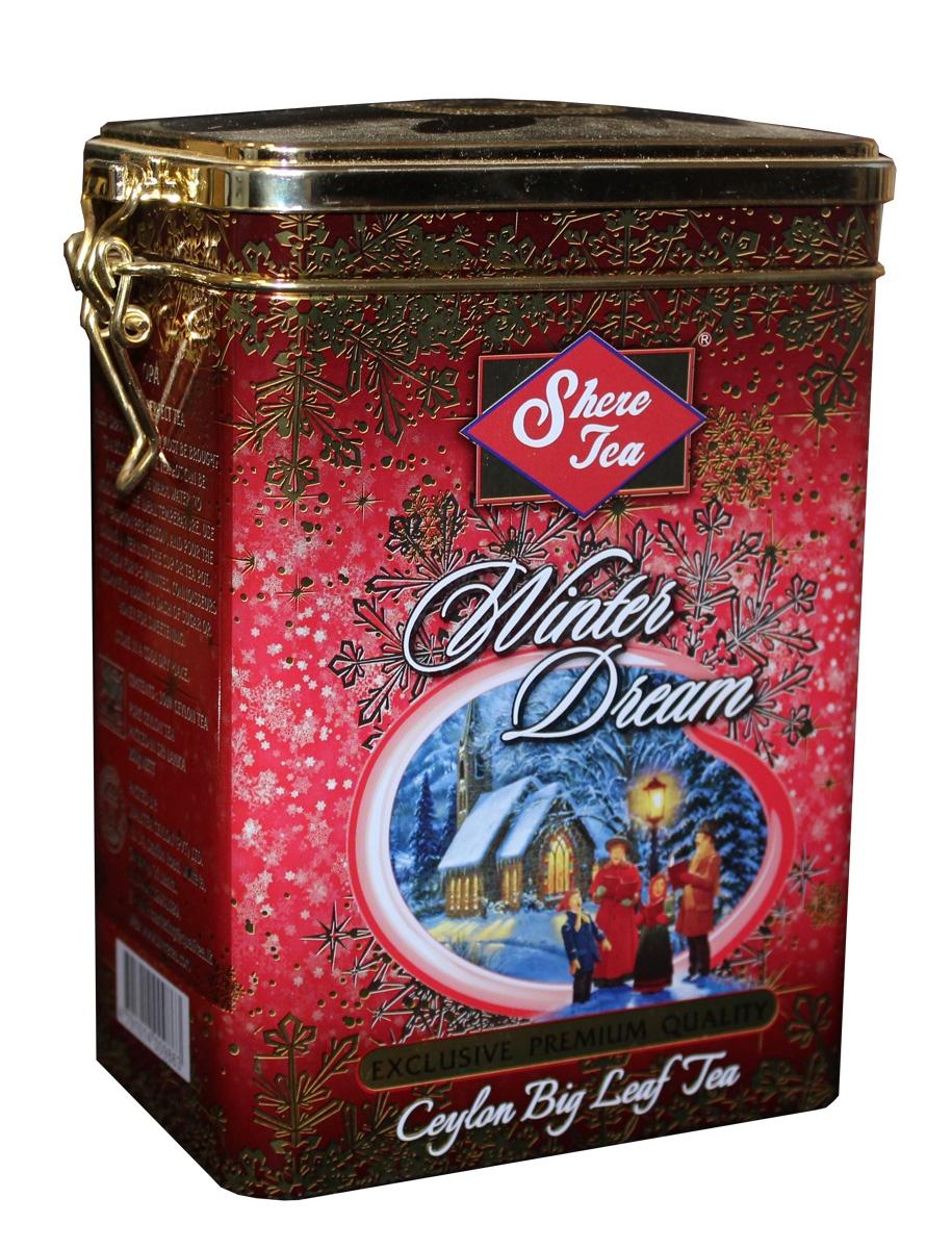 Shere Tea Подарочный Зимняя мечта чай черный листовой, 250 г4791014009863Чай Шери Подарочная коллекция, Зимнее мечта. Подарочная упаковка изготовлена из металла с элементами конгрева. Крышка снабжена клипсой. Производитель: Кволити Цейлон. Стандарт: OPА- крупный лист. Листья для этого чая собирают с кустов после того, как почки полностью раскрываются. Для этого сорта собирают первый и второй лист с ветки. ОРА - особо крупнолистовой чай не плотной скрутки, оптимально сочетающий крепость, терпкость, аромат и мягкость вкуса. Для этого чая собирают первый и второй взрослые листья. Чай характерен вкусом с горчинкой, а кофеина во взрослых листьях меньше, чем в молодых.