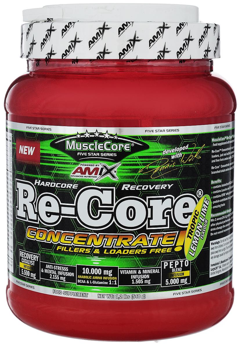 Послетренировочный комплекс AMIX Nutrition MuscleCore DW - Re-Core Concentrate, лимон и лайм, 540 г8594159537477Послетренировочный комплекс AMIX Nutrition MuscleCore DW - Re-Core Concentrate - это специализированный пищевой продукт для спортсменов. Формула продукта была специально разработана для сокращения времени восстановления после физических нагрузок и повышения выносливости. Изделие помогает уменьшить выработку молочной кислоты в мышцах. Послетренировочный комплекс AMIX Nutrition MuscleCore DW - Re-Core Concentrate - идеальный помощник при физических нагрузках. Размер порции: 24,5 г. Товар сертифицирован.