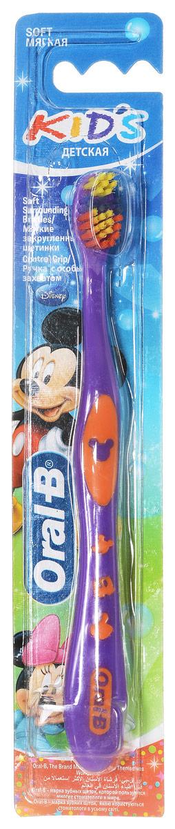 Детская зубная щетка Oral-B Kids, мягкая цвет фиолетовый оранжевыйKID-13244865_фиолетовый/оранжевый