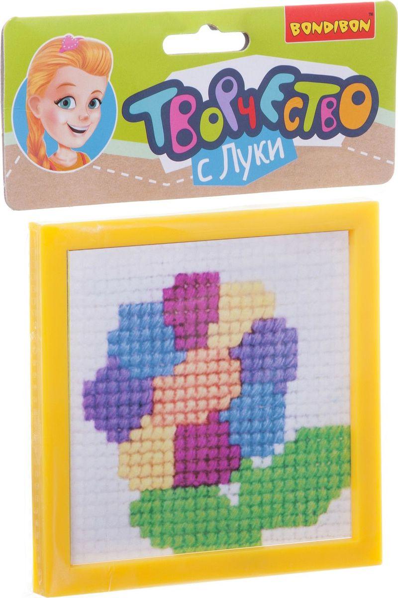 Bondibon Набор для вышивания на пластиковой канве Цветик-семицветик