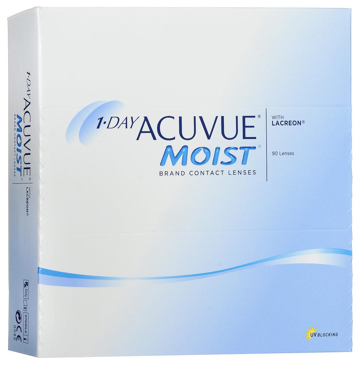 Johnson & Johnson контактные линзы 1-Day Acuvue Moist (90шт / 9.0 / -2.75)