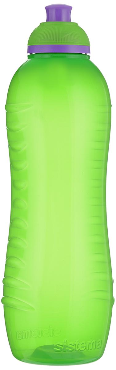 Бутылка для воды Sistema Twist n Sip, цвет: салатовый, 620 мл795_салатовыйБутылка для воды Sistema Twist n Sip изготовлена из прочного пищевого пластика без содержания фенола и других вредных примесей. Поверхность бутылки снабжена рельефом и специальными выемками для удобного хвата. Бутылка имеет уникальную запатентованную систему крышки Twist n Sip, которая предотвращает выливание жидкости и в то же время позволяет удобно пить напитки. С такой бутылкой вы сможете где угодно насладиться вашими любимыми напитками. Высота бутылки: 22,5 см.