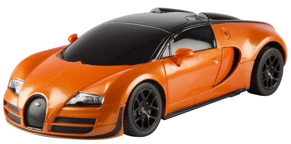 Rastar Радиоуправляемая модель Bugatti Veyron 16.4 Grand Sport Vitesse цвет оранжевый черный масштаб 1:24
