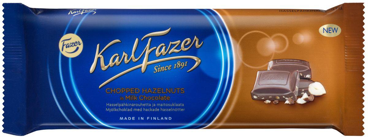 Karl Fazer Молочный шоколад с тертым фундуком, 100 г
