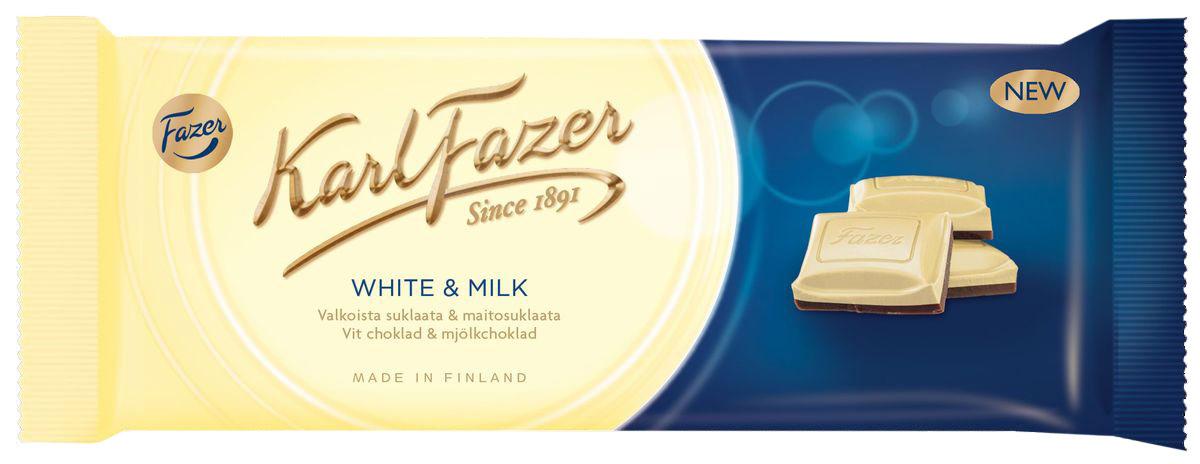 Karl Fazer Белый шоколад с молочным шоколадом, 100 г5854Karl Fazer - шоколад, который тает во рту. Секрет в том, что шоколад Karl Fazer до сих пор производится по традиционному рецепту только из свежего молока.