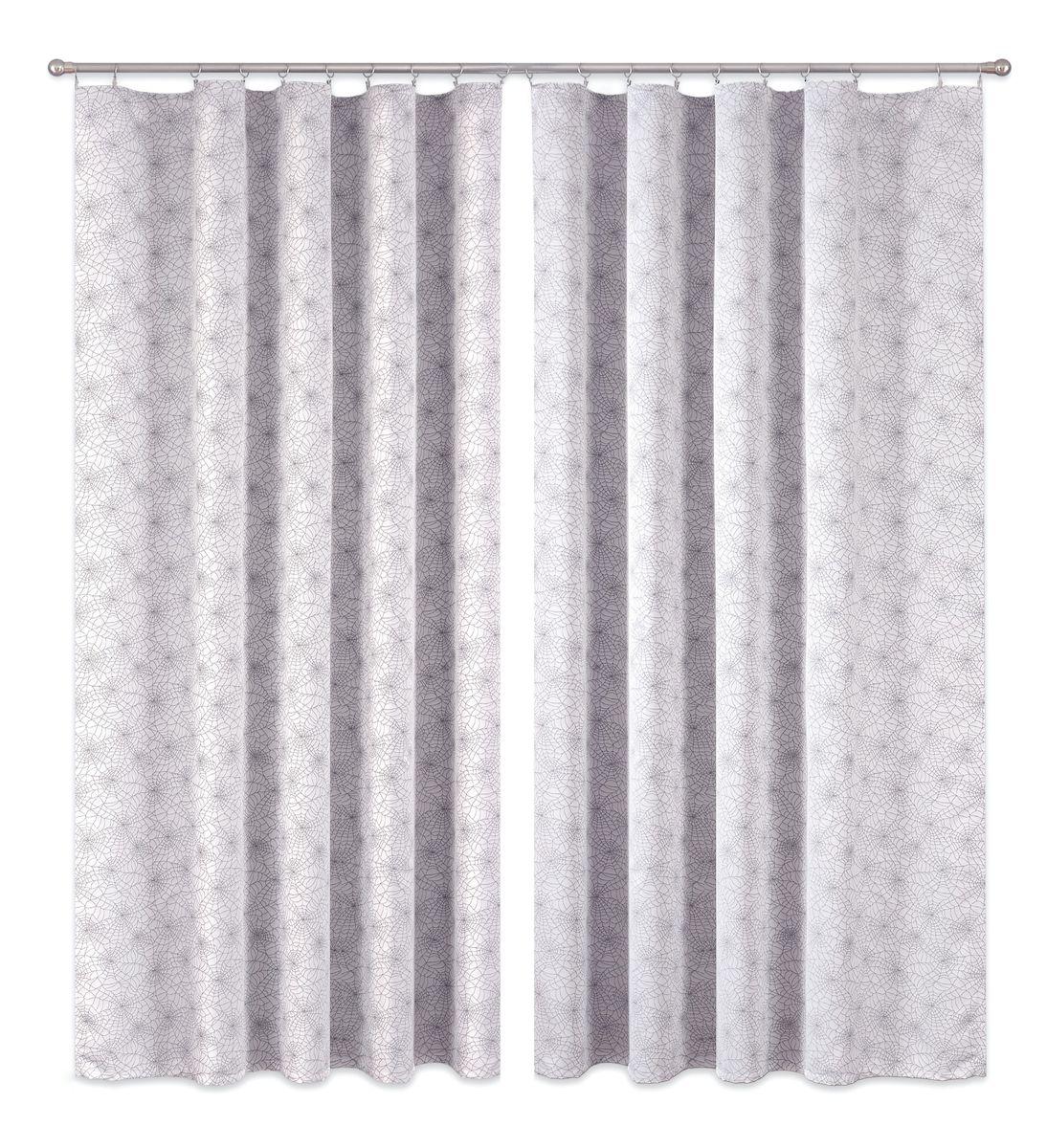 Комплект штор P Primavera Firany, цвет: серый, высота 270 см. 11100021110002Комплект штор из полиэстровой жаккардовой ткани с пришитой шторной лентой. Размер - ширина 180 см высота 270см. Набор 2 штуки. Цвет серый. Размер: ширина 180 х высота 270