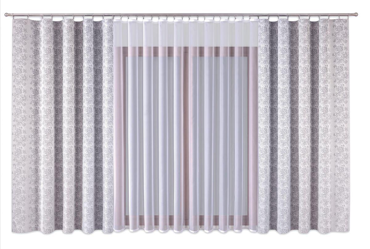 """Комплект штор """"P Primavera Firany"""", цвет: белый, высота 250 см. 1110019"""