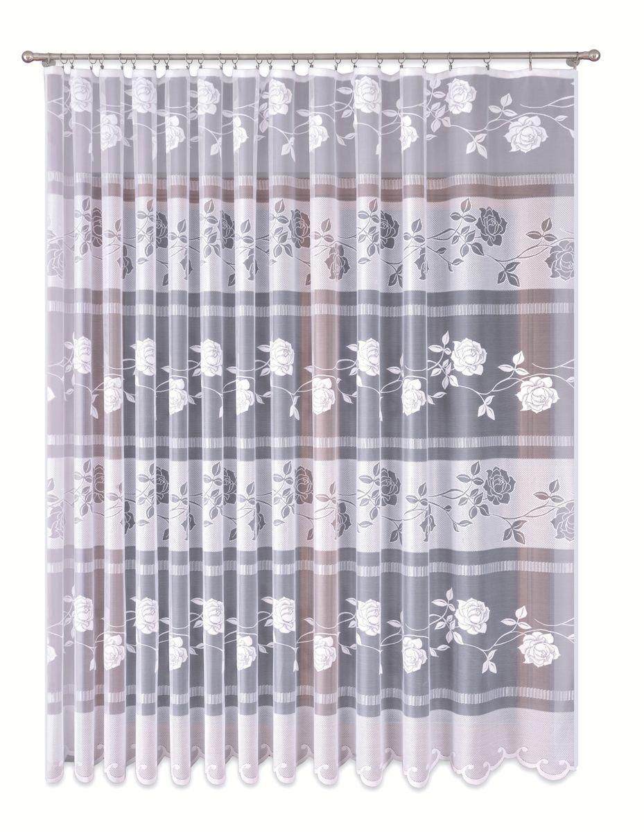 Тюль P Primavera Firany, цвет: белый, высота 270 см. 11101511110151Тюль жаккардовая с пришитой шторной лентой. Размер: ширина 400см высота 270см. Цвет белый. Размер: ширина 400 х высота 270